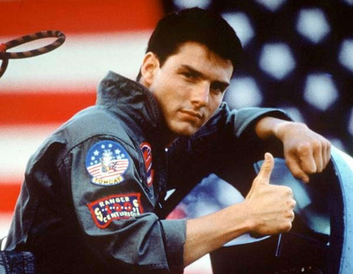"""Tom Cruise in a scene from the 1986 film """"Top Gun"""" produced by Jerry Bruckheimer. (Gannett News Service/Paramount Pictures)"""