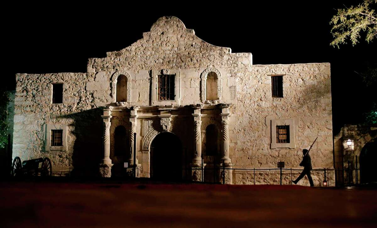 FILE - This March 6, 2013, file photo, shows the Alamo in San Antonio, Texas. The Alamo is best known as the site of a legendary 1836 battle, but it was originally built in 1718 as a Spanish mission. San Antonio dates the city's founding to the opening of that mission 300 years ago and plans a week of tricentennial commemorative events for May. (AP Photo/Eric Gay, File)