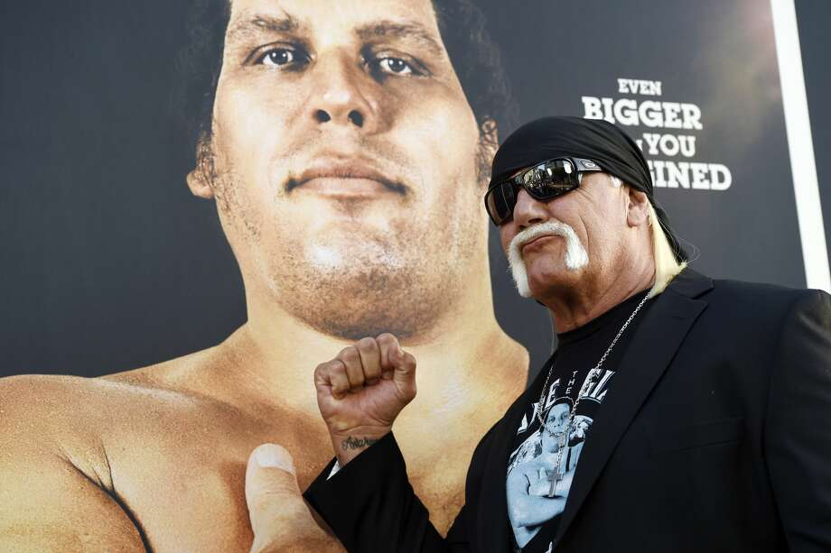 """Former WWF star Hulk Hogan is among those interviewed in HBO's new documentary """"Andre the Giant"""" about the legendary late wrestler that premieres Tuesday night. Photo: Chris Pizzello/Associated Press"""
