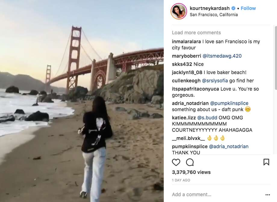 Kourtney Kardashian, 38, shared a series of snaps from her Northern California vacation on Instagram. Photo: Instagram Screen Grab