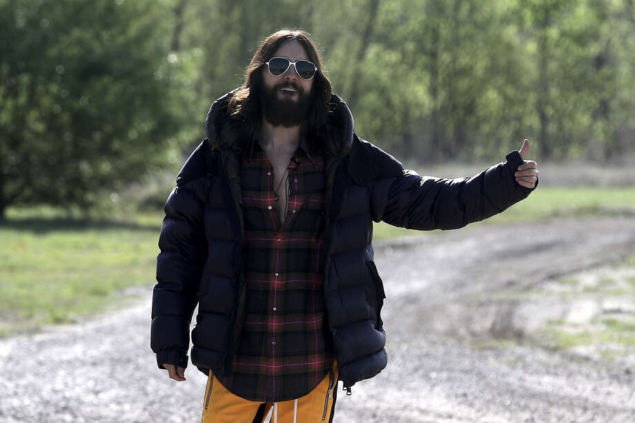 Actor and singer, Jared Leto is hitchhiking across America in celebration of his band's new album.>> See photos of celebs in Central Texas Photo: Getty Images