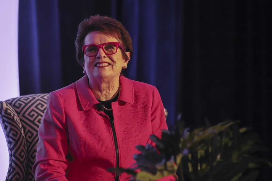 Billie Jean King headlined the spring luncheon and fundraiser for  Fairfield County's Community Foundation's Fund for Women and Girls on  April 5, 2018 at the Hyatt Regency in Greenwich. King played a role in  founding the Women's Tennis Association and the  Women's Sports Foundation. This year marks the fund's 20th anniversary  of the Fund for Women and Girls. Were you SEEN? Photo: Dawn Kubie