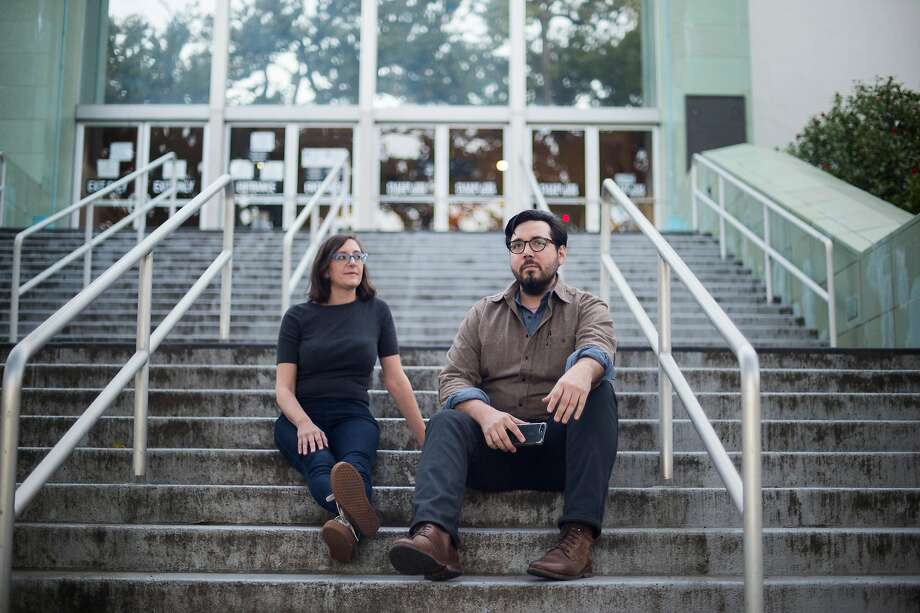 Kate Maxwell (left) and Adrian Fernandez Baumann decided to open their own newspaper after a bad experience working for one run by a hedge fund. Photo: Brian L. Frank / Special To The Chronicle