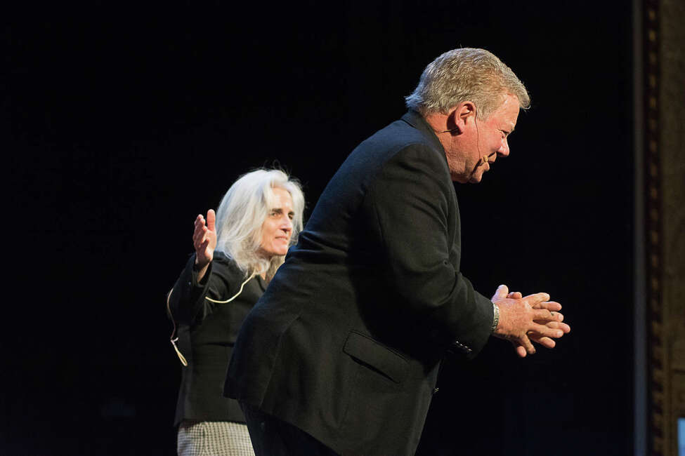 William Shatner, interviewed by the Times Union's Amy Biancolli, during his April 4, 2018 show at Proctors in Schenectady. (Provided photo by TM Williams Photography)