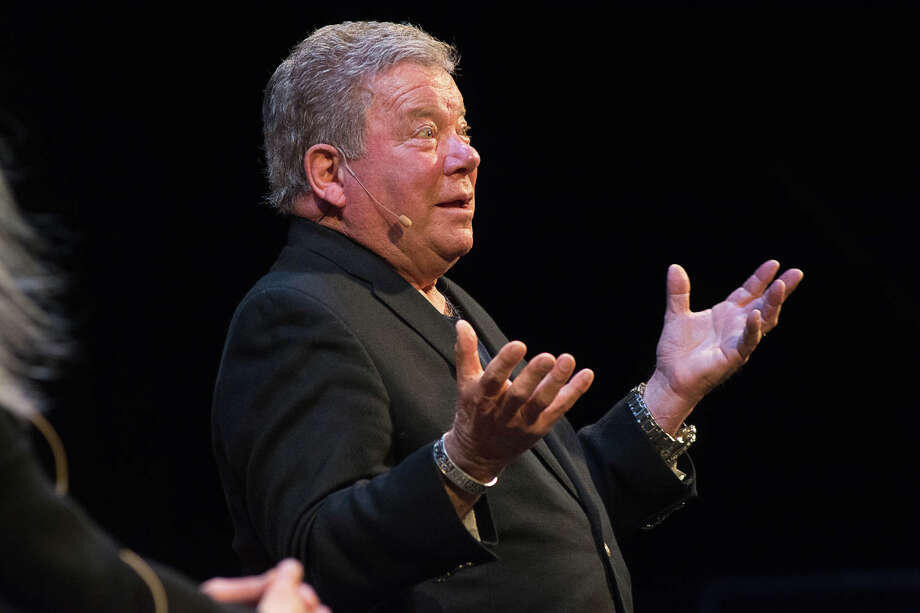 William Shatner, interviewed by the Times Union's Amy Biancolli, during his April 4, 2018 show at Proctors in Schenectady. (Provided photo by TM Williams Photography) Photo: TM Williams Photography
