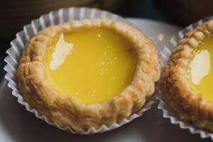Egg custard tarts photographed at Yank Sing in San Francisco, Calif. on Friday, March 24, 2017.