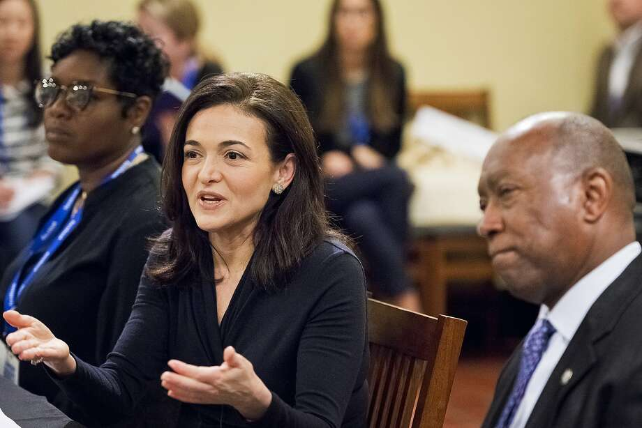 Sheryl Sandberg, here at a small business session in Houston, says Facebook is reviewing its practices. Photo: Anthony Rathbun / Associated Press