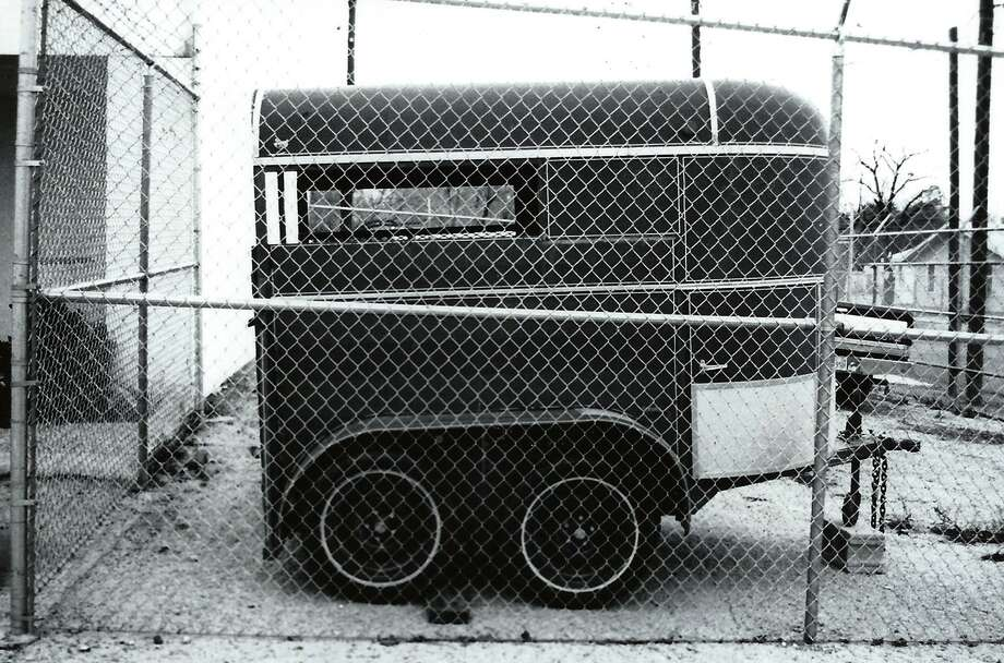 The seized horse trailer. Photo: Big Bend Sentinel