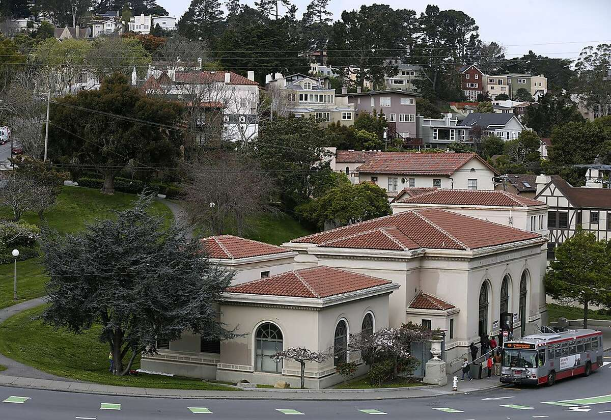 The Forest Hill Muni Metro station is surrounded by single family homes in San Francisco, Calif. on Thursday, April 5, 2018. Supervisor and mayoral candidate Jane Kim is opposing SB827, authored by state Sen. Scott Wiener, which would require cities to allow four- to eight-story apartment and condo buildings in residential areas if they are within a half mile of major transit hubs and would also mandate that cities allow such buildings within a quarter mile of highly used bus and light-rail stops.