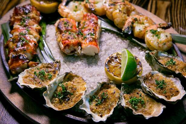 The Charcoal-Grilled Shellfish platter at International Smoke in San Francisco, Calif. is seen on January 6th, 2018.