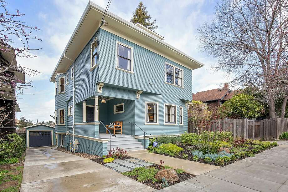 4191 Gilbert St. in Oakland is a four-bedroom boasting period details and curb appeal. Photo: Open Homes Photography