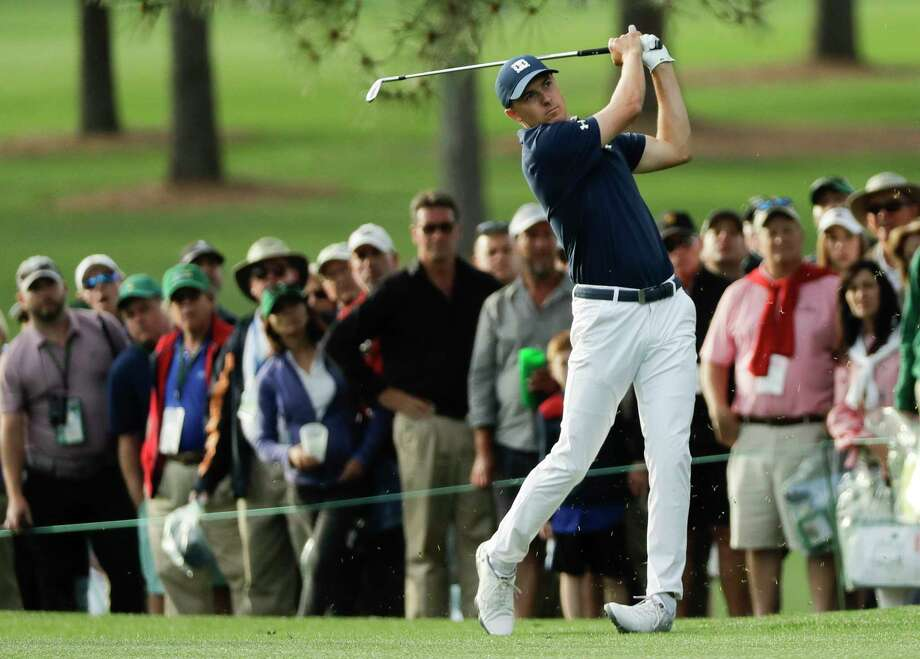 Jordan Spieth hits a shot on the 17th hole during the first round at the Masters golf tournament Thursday, April 5, 2018, in Augusta, Ga. (AP Photo/David J. Phillip) Photo: David J. Phillip / Copyright 2018 The Associated Press. All rights reserved.