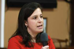 Congresswoman Elise Stefanik meets with constituents in a town-hall style event held at Moreau Community Center on Thursday, April 5, 2018 in South Glens Falls, N.Y. (Lori Van Buren/Times Union)