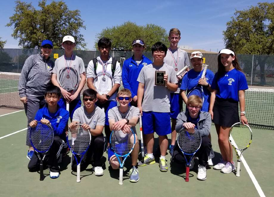 The Trinity tennis team poses after competing in the TAPPS 1-4A Tennis Tournament at Midland College on Thursday. Courtesy photo Photo: Courtesy Photo