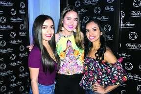 Sara Cardenas, Kim Almanza and Ilse Garza at The Happy Hour Downtown Bar  Friday, April 6, 2018