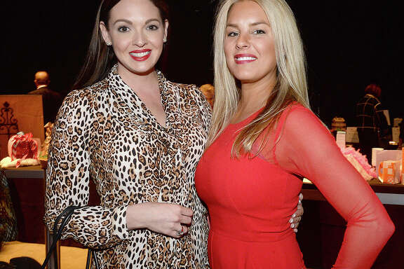 """Angela Dodson and Lisa Coon were at the Gift of Life's annual Champagne and Ribs fundraiser at the Civic Center. The event, themed """"Viva, Las Vegas,"""" raises money for  the Men's Health & Prostate Cancer Program. Photo taken Thursday, April 5, 2018 Kim Brent/The Enterprise"""