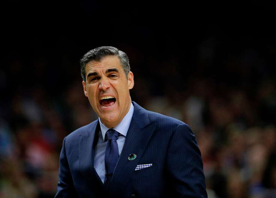 Villanova head coach Jay Wright yells during the first half in the semifinals of the Final Four NCAA college basketball tournament against Kansas, Saturday, March 31, 2018, in San Antonio. (AP Photo/David J. Phillip) Photo: David J. Phillip / Copyright 2018 The Associated Press. All rights reserved.