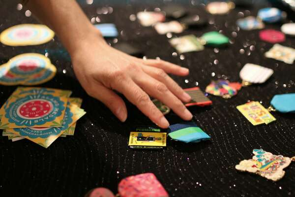 The arts collective over at Brick got a jump on Fiesta madness Thursday night, April 6, 2018, with Fiesta Medal Fest. The event featured vendors selling newly crafted and vintage Fiesta Medals.