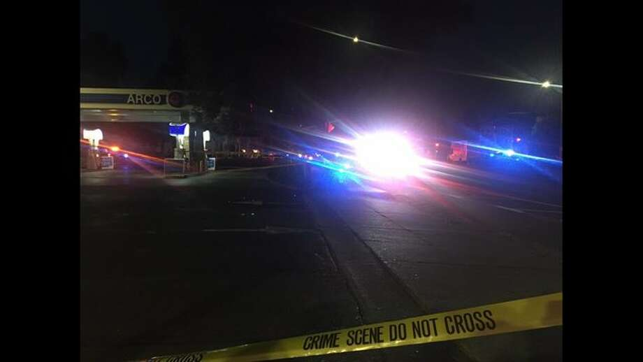 Fremont Police investigating shooting at ARCO. Photo: KTVU