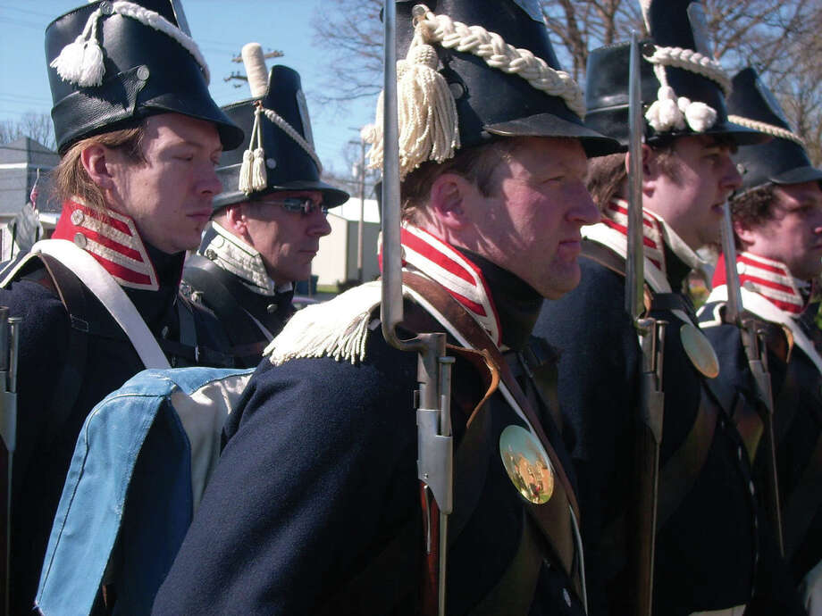 Re-enactors at a previous military muster at the 1820 Col. Benjamin Stephenson House. Photo: For The Intelligencer