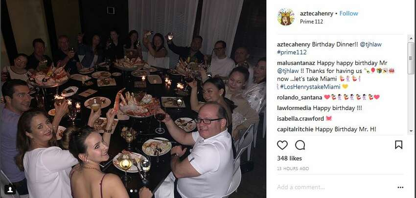 2. Henry celebrated his birthday with friends and family in Miami, according to his wife's Instagram account.