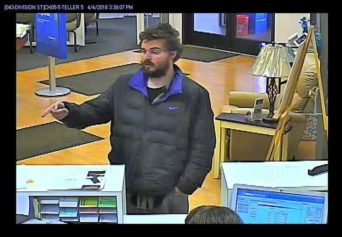 This camera image taken at Webster Bank in Ansonia on Wednesday, April 4, 2018, led to the arrest of Bruce Rowley, 26, of Chapel Street in Derby. Rowley's arrest came after two people identified him as the person who robbed the the Division Street bank, said Lt. Patrick Lynch. He was arrested by warrant for second-degree robbery and fourth-degree larceny.