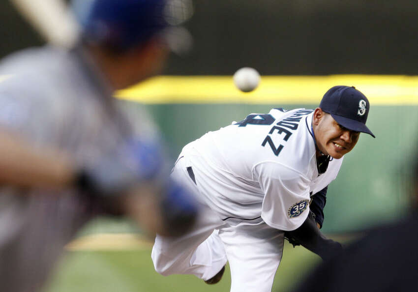 BEST: Felix Hernandez Though he's faltered in recent years, there's no denying that Felix Hernandez stands as one of the Mariner's best free agency acquisitions. When he was signed as a UDFA in 2002, scouts were obviously excited of his potential. Even so, they probably weren't prepared for just how good he'd be. Hernandez would go on to become one of the franchise's cornerstones, earning 168 wins, a career 3.34 ERA, 2,467 strikeouts and one AL Cy Young Award. In 2012, he pitched a perfect game - the first in Mariner's history. He's one of the best players in team history, and absolutely deserves his place on this list.