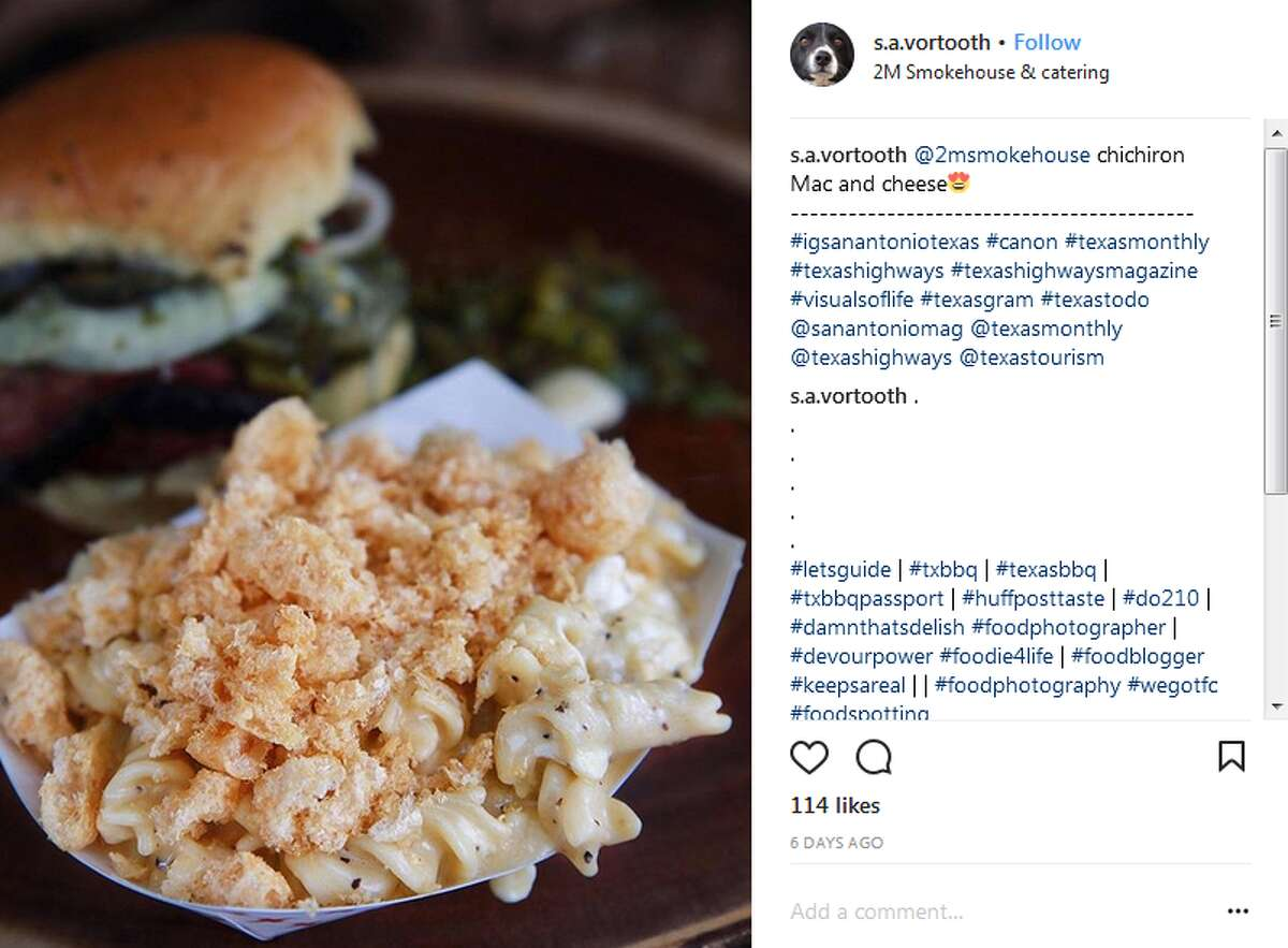 Chicharron mac and cheese at 2M Smokehouse Photo by @s.a.vortooth
