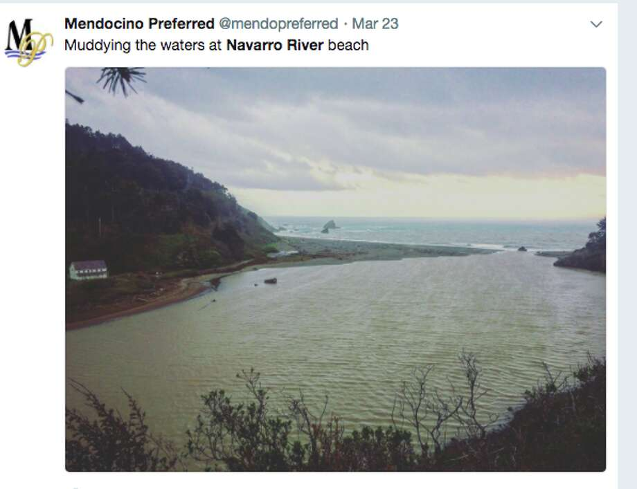 The mouth of the Navarro River that flowers through Mendocino County from the Coastal Range to the Pacific Ocean. Photo: Twitter Screen Grab / @mendopreferred