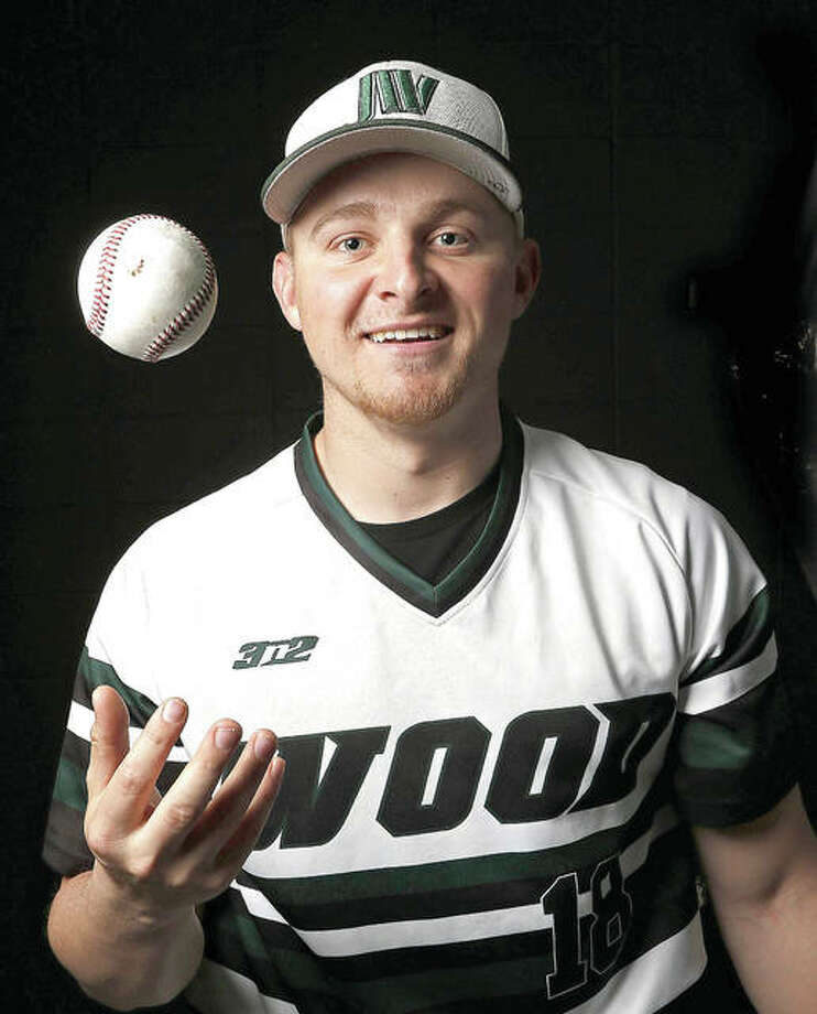 John Wood Community College pitcher and designated hitter Anthony Silkwood poses for a photo earlier this week. Silkwood, a Marquette Catholic High graduate, served in the Marine Corps for five years after high school before enrolling at John Wood to play baseball. Photo: Jake Shane, Herald-Whig | For The Telegraph