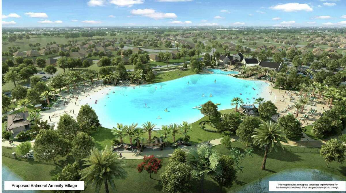 Rendering of what the lagoon will look like when construction is complete.