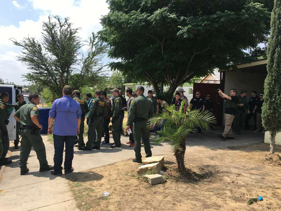 Laredo police found a stash house in the 4500 block of Corrada Avenue Friday morning with 69 undocumented immigrants inside. Photo: Julia Wallace