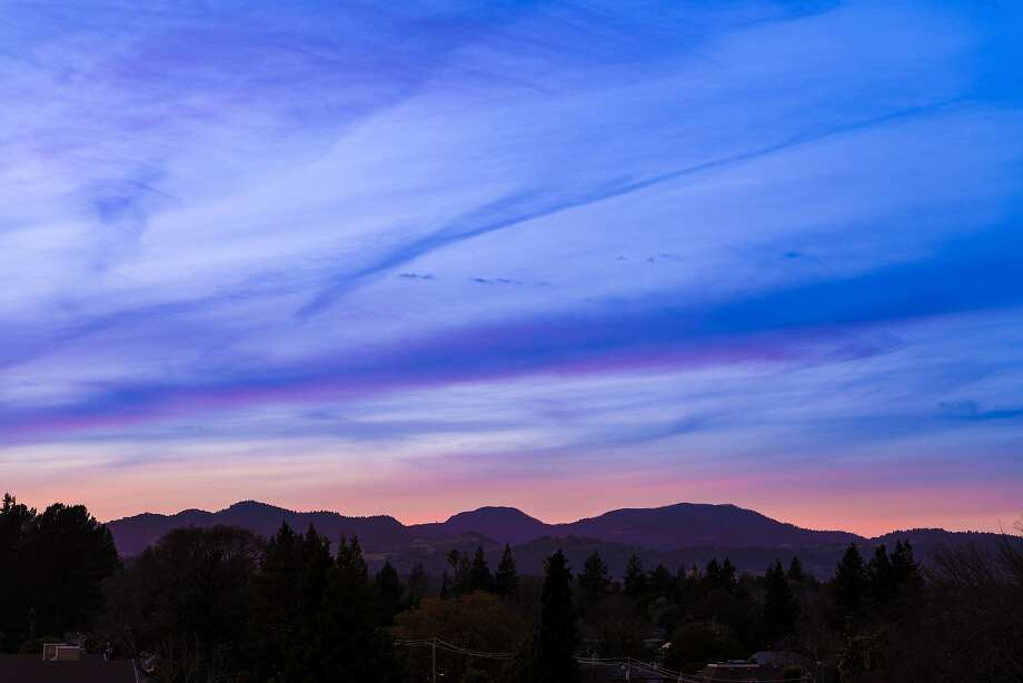 Views from Charlie Palmer's Sky & Vine Rooftop Bar in Napa. Photo: Bob McLenahan Photography