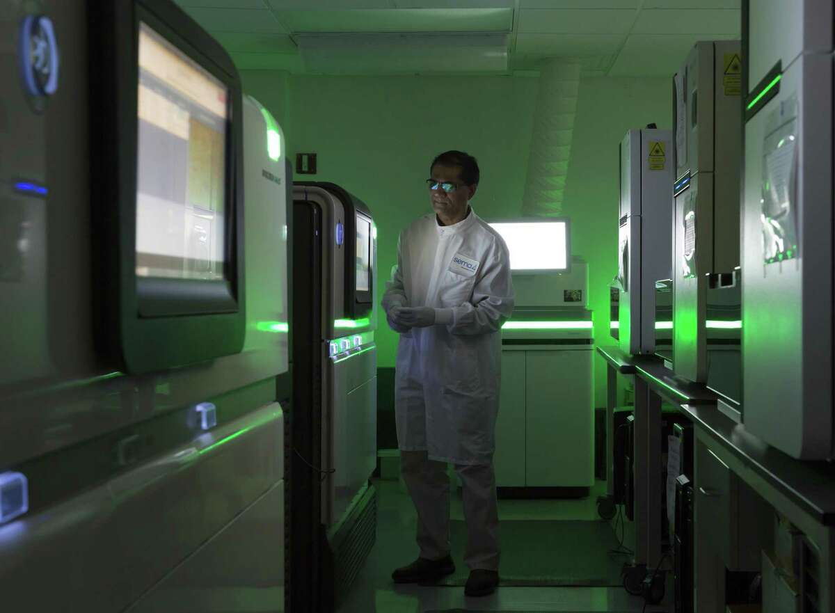 A Sema4 employee works at the company's lab at 1428 Madison Ave., in Manhattan. The company has announced that it is relocating the lab to a to-be-determined site in Stamford.