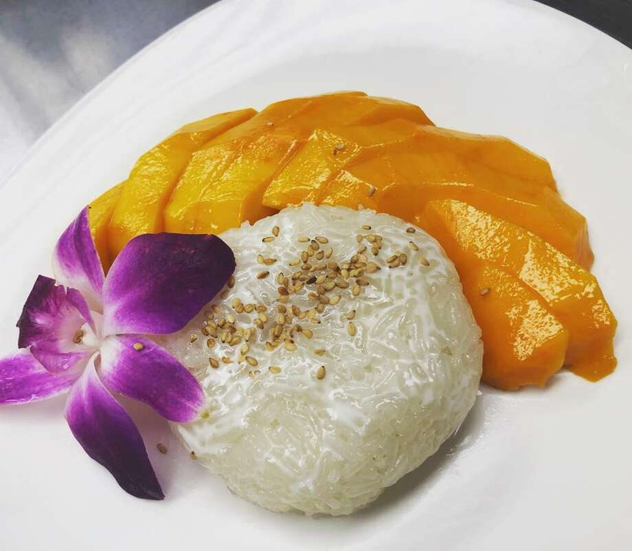 Coconut Sticky Rice is a featured menu item at Kin Thai & Sushi at Highlights info row image 22211 W. Interstate 10 near The Dominion. Photo: Courtesy Photo