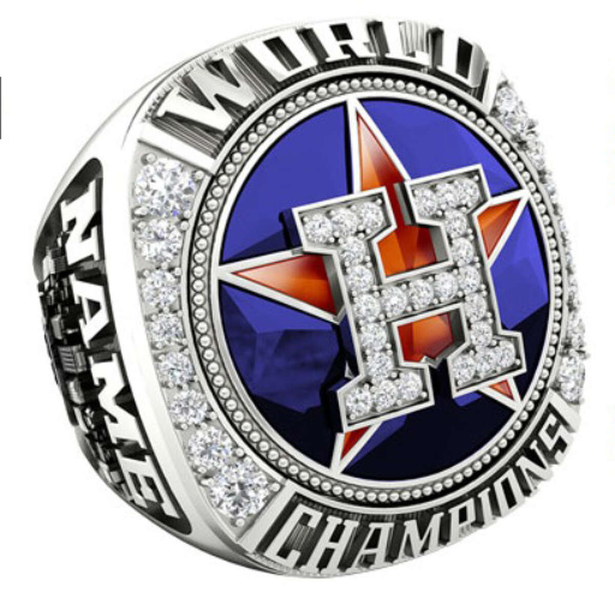 JOSTENS' ASTROS WORLD SERIES JEWELRY COLLECTION Astros' elite fan ring $649