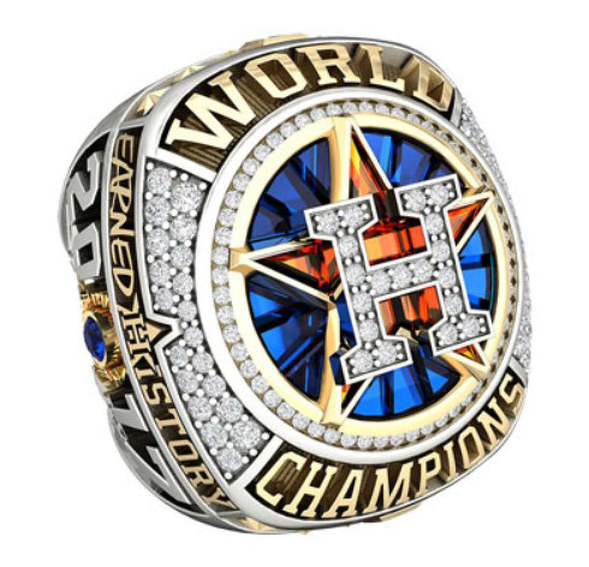 JOSTENS' ASTROS WORLD SERIES JEWELRY COLLECTION Astros limited edition fan ring $11,112