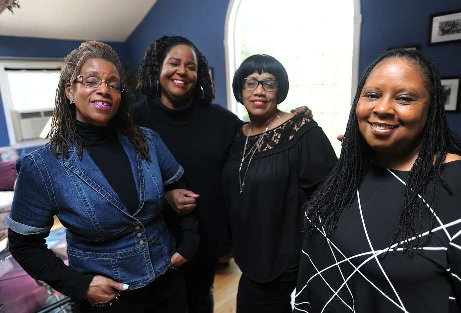 From left; Karen Halliburton, Ruth Manuel-Logan, Judyth Watson-Remy, and Angela Kinamore run their new online magazine, 50Bold.com, from Manuel-Logan's home in Trumbull, Conn. on Thursday, April 5, 2018. The twice monthly magazine was created for African Americans age 50 and over. Photo: Brian A. Pounds / Hearst Connecticut Media / Connecticut Post