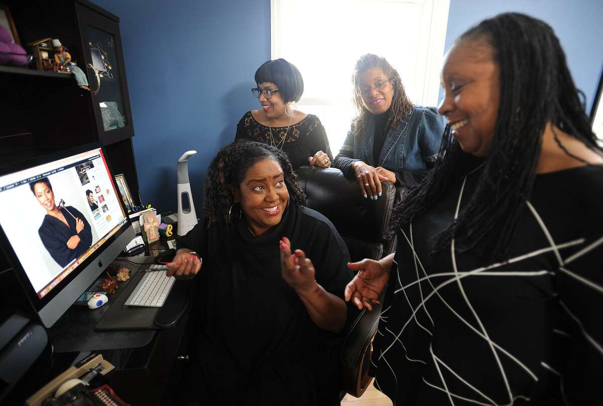 From left; Ruth Manuel-Logan, Judyth Watson-Remy, Karen Halliburton, and Angela Kinamore run their new online magazine, 50Bold.com, from Manuel-Logan's home in Trumbull, Conn. on Thursday, April 5, 2018. The twice monthly magazine was created for African Americans age 50 and over.
