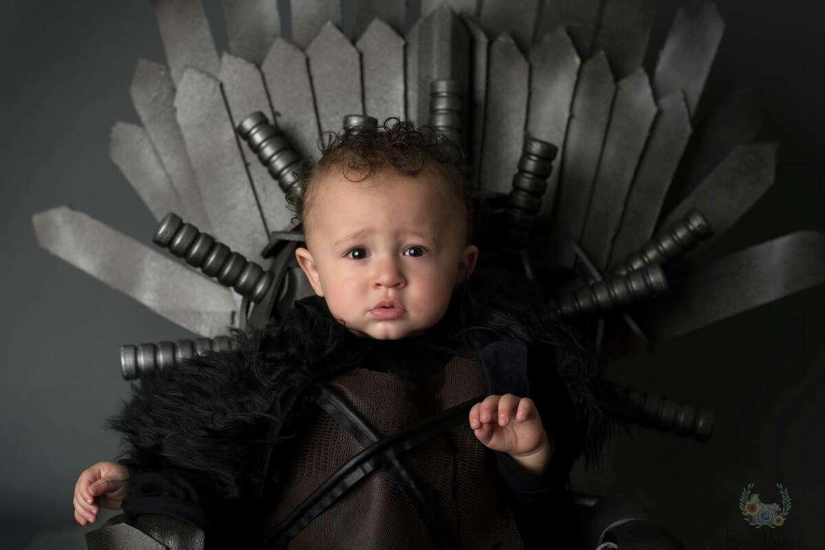 Hosea Victor turned one on Feb. 6, but he's already ready to rule the Seven Kingdoms like Jon Snow.