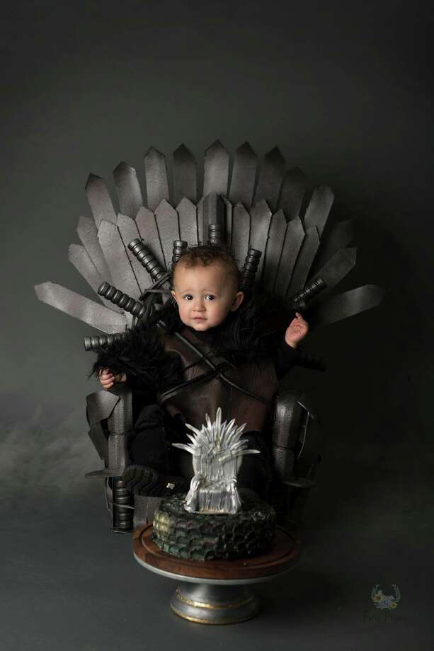 Hosea Victor turned one on Feb. 6, but he's already ready to rule the Seven Kingdoms like Jon Snow. Photo: Crystal Victor, Frog Prince Photography