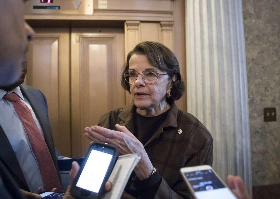 Sen. Dianne Feinstein on Capitol Hill on March 20. Photo: J. Scott Applewhite / Associated Press
