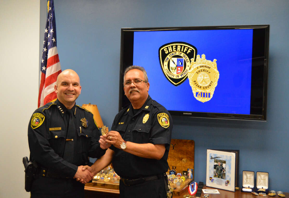 Ruben Vela (right), a 34-year veteran with the Bexar County Sheriff's Office, was terminated Wednesday, February 27, 2019.