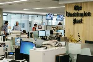 The Washington Post newsroom in Washington, May 18, 2017. Let's be clear: Trump is targeting Amazon because its CEO also owns the Washington Post, which reports extensively on the president.
