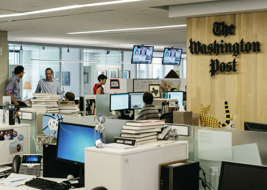 The Washington Post newsroom in Washington, May 18, 2017. Let's be clear: Trump is targeting Amazon because its CEO also owns the Washington Post, which reports extensively on the president. Photo: JUSTIN T. GELLERSON /NYT / NYTNS