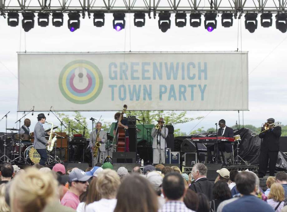 The Preservation Hall Jazz Band performs at the 2017 Greenwich Town Party at Roger Sherman Baldwin Park in Greenwich, Conn. Saturday, May 27, 2017. The 2017 Town Party was headlined by classic jazz fusion group Steely Dan and American blues rock band Alabama Shakes. Several local bands also performed, with many activities for children and families and local food stands. Photo: Tyler Sizemore / Hearst Connecticut Media / Greenwich Time