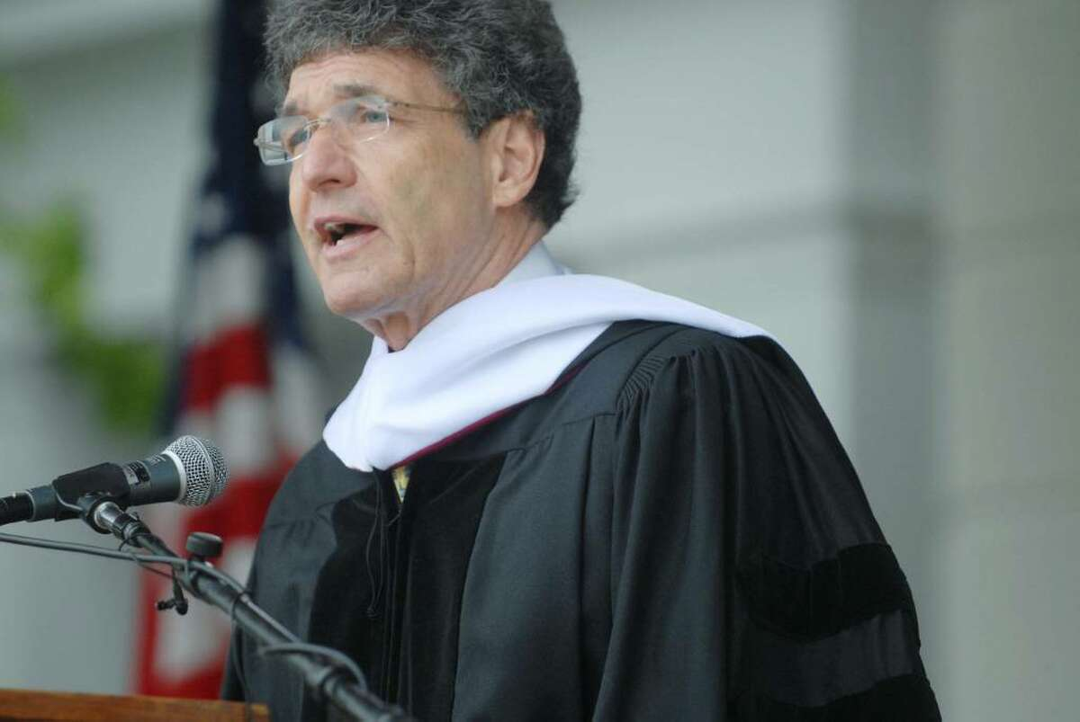 Alan Horn, Union College class of 1964, gives the commencement address at the Union College graduation on Sunday, June 13, 2010 in Schenectady. Horn is president and chief operating officer of Warner Bros. (Paul Buckowski / Times Union)