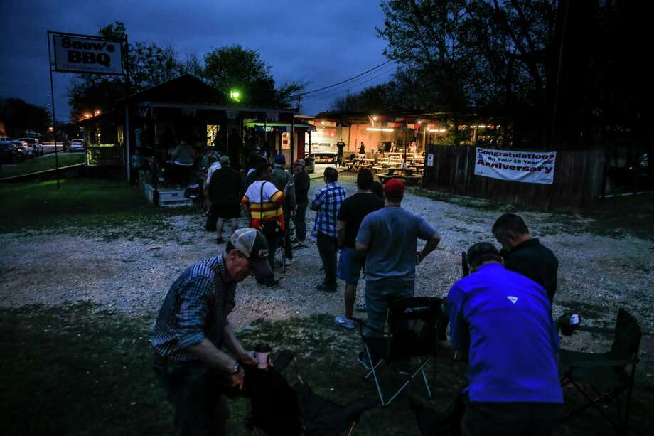 Snow's BBQ not even on the main thoroughfare in in Lexington, a tiny cow town east of Austin, yet pilgrims still line up before dawn on Saturdays. Photo: Michael Ciaglo, Houston Chronicle / Houston Chronicle / Michael Ciaglo