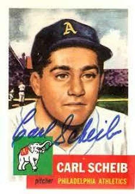 Carl Scheib baseball card Photo: Courtesy Photo /