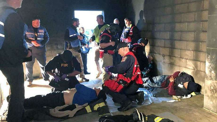 Fire, police, emergency medical services and telecommunications personnel from Fairfield County, Conn., participated in three days of specialized, hands-on mass casualty training at Fairfield Regional Fire School from March 27, 2018, to March 29, 2018, to practice how to handle these types of situations Photo: / Photo: Contributed Photo / Bill Ackley
